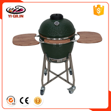 Newest big size kamado green color ceramic grill egg shape