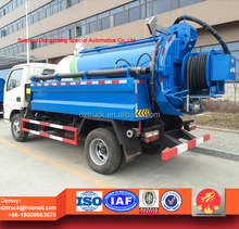 Dongfeng 4000L Sewer Clean Truck , Sewage Suction Truck