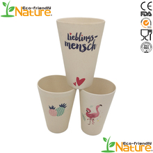 450ML Wholesale Ice Cream Color Bamboo Fiber Coffee Mug