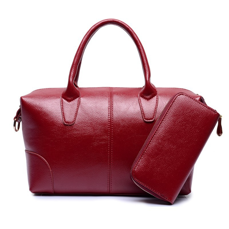 red patent two in one handbag set factories
