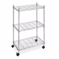 Movable storage wire shelving Bathroom chrome plated wire rack kitchen storage wire shelving