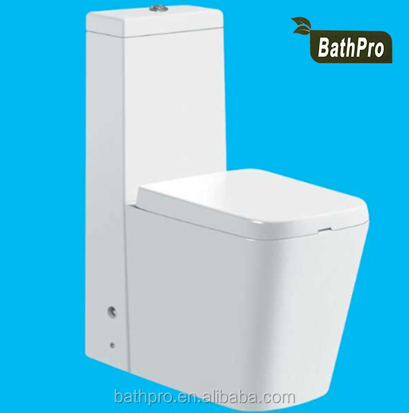 square shape white ceramic material toilet wc price foshan