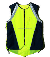 Fluorescent Yellow Multifunctional Waterproof Reflective Safety Cycling Vest