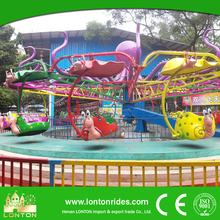 Luna Park Equipment Lifting Paratrooper Ride Kids Double Flying Game