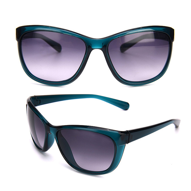 Custom Made Butterfly TR90 Women Sunglasses Blue Big Frame Fashion Glasses