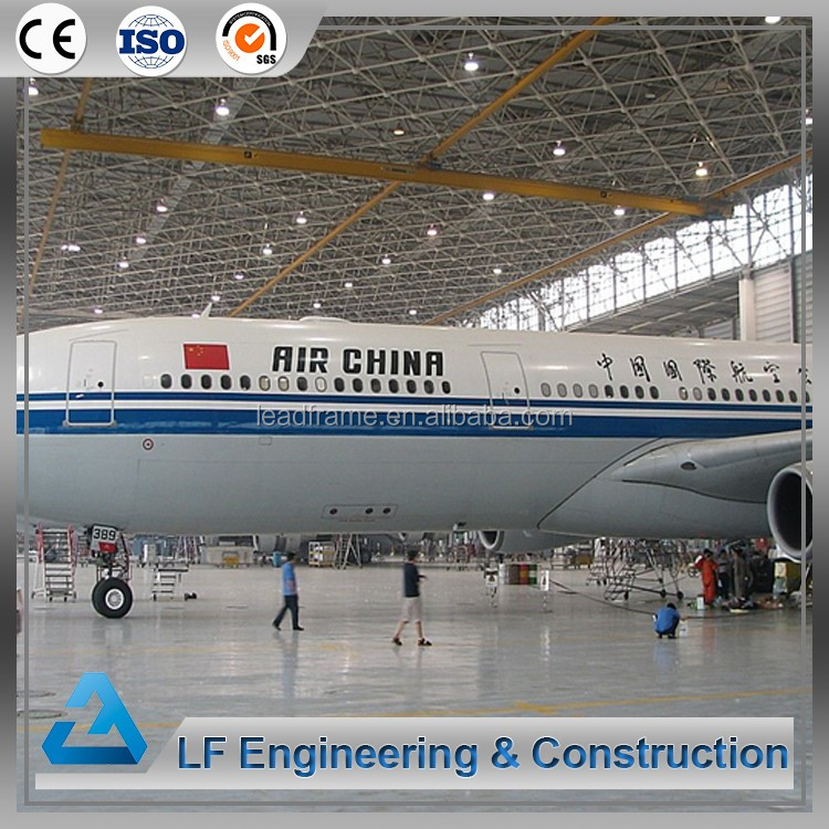 Long-span steel structural buildings airplane hangar