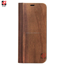 Magnetic Flip Wood Phone Case PU Leather Wallet Wooden Cell Phone Case with Card Holder for Samsung for S9 for S9 PLUS