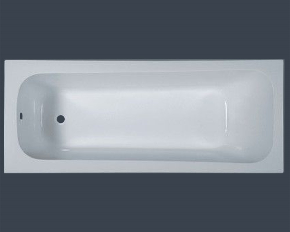 Pure white drop in acrylic bathtub for indoor soaking