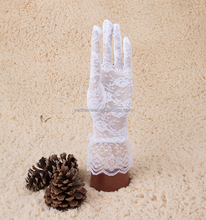 Latest Arrival good quality pretty party white lace Dancing Performance gloves