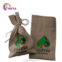 Custom Drawstring Jute Burlap Coffee Sack Bags With Custom Printing