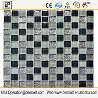 clear transparent crystal glass mosaic glass mosaic hand-cut picture