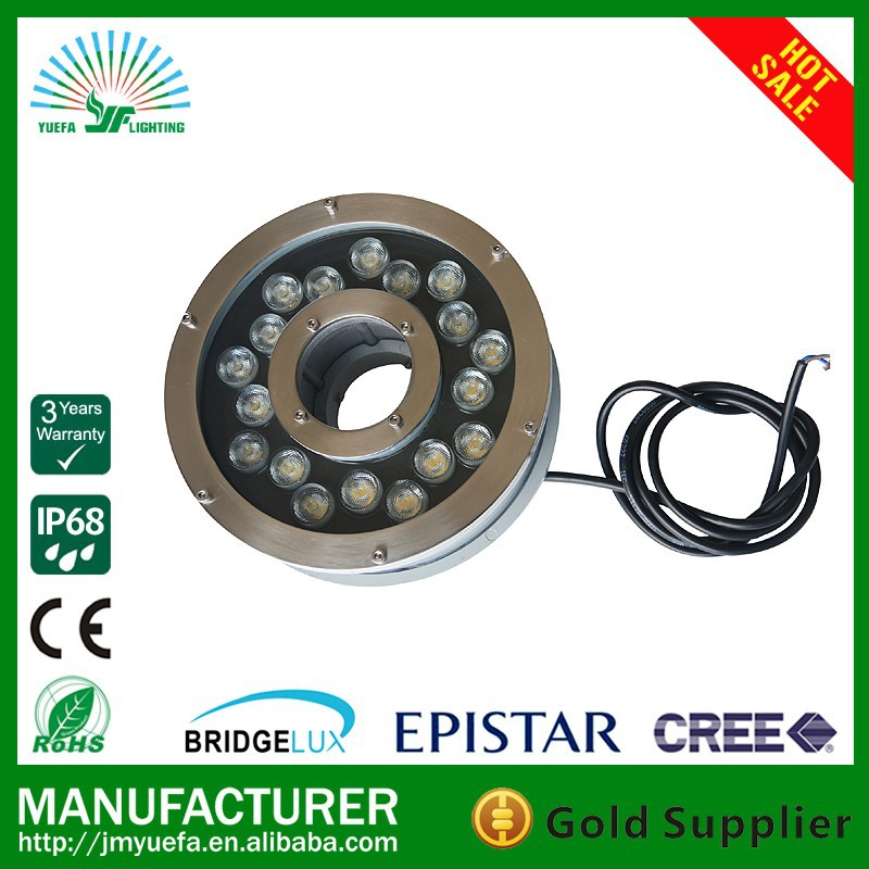 18W IP68 Stainless steel waterproof led swimming pool light led multi color led UNDERWATER light LED FOUNTAIN LIGHT