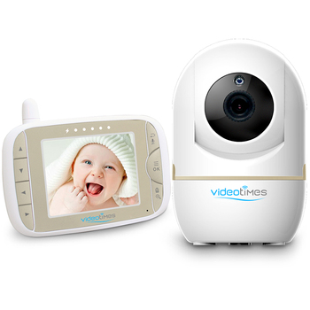 Videotimes 3.2'' LCD wireless digital video baby monitor with Two-way talkback system for baby,rotating baby monitor