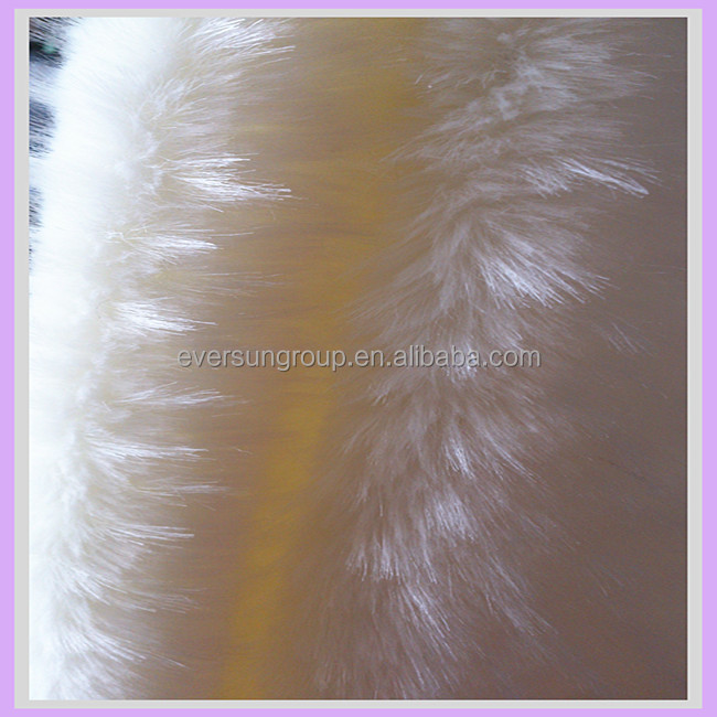 acrylic long pile fake fur fabric jacquard fake wolf fur for garments