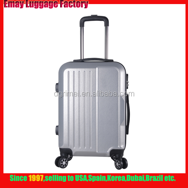 2017 Newest design Polished ABS Trolley Luggage