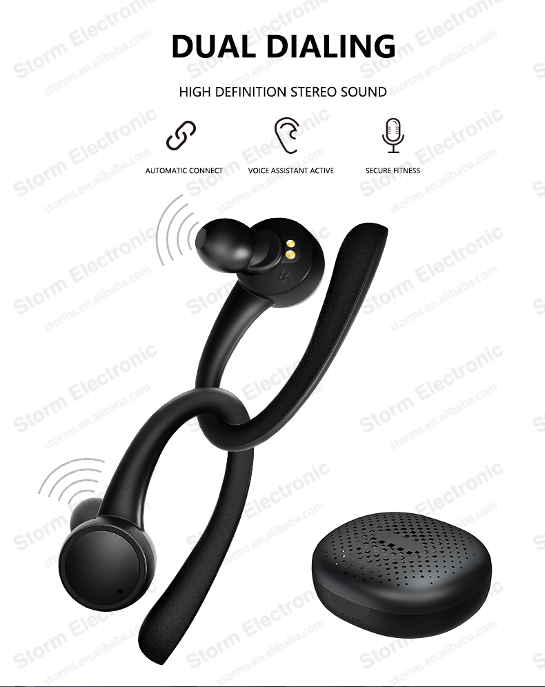 TWS Wireless 5.0 Earphone Macaron earhook sports airdots earbuds headphone case i11 i9s i12 headset