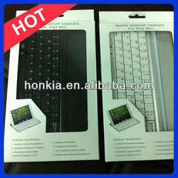 For iPad Mini keyboard,Aluminum bluetooth keyboard with Germany, Italy, Russian and Multi Language