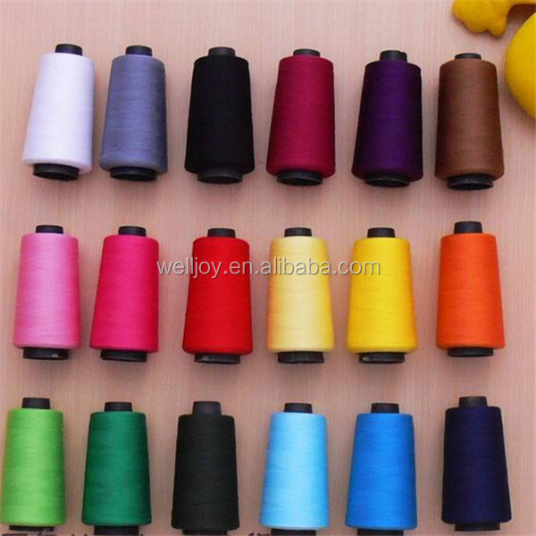 Welljoy 30/2 30/3 40/2 40/3 spun polyester sewing for shoe color match with own color card