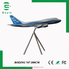 200CM decorative 747 Boeing big model for educational display