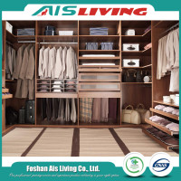 Customized sleek new model walk in unit mounted mdf bed price wardrobe