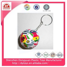 wholesale promotional gift pvc 2014 world cup key chain