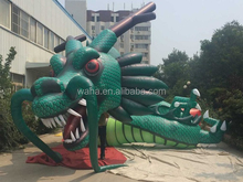 28m Customization party inflatable dragon cartoon model for party green