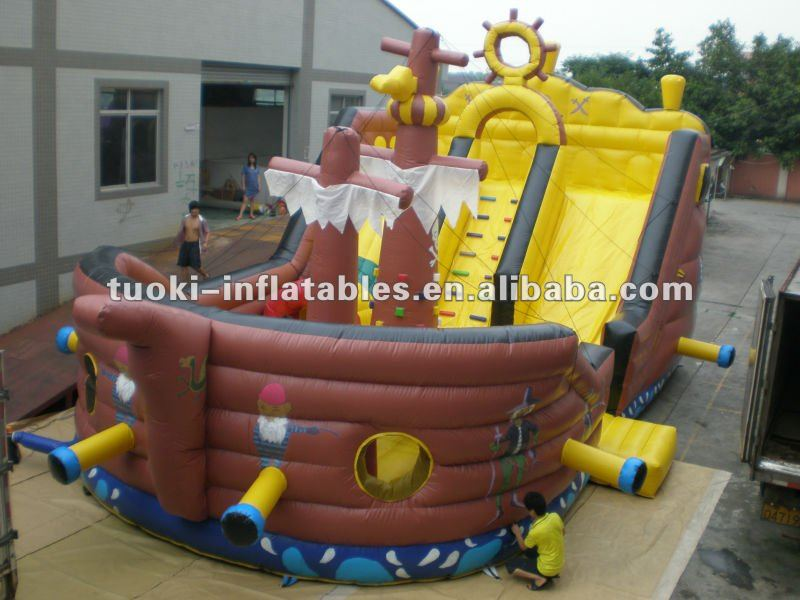 inflatable priate ship ,inflatable bounce playground