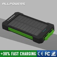 Solar Charger Power Bank 10000mAh Rugged Shockproof Battery Charger for iPhone 6 Plus other 5V USB devices