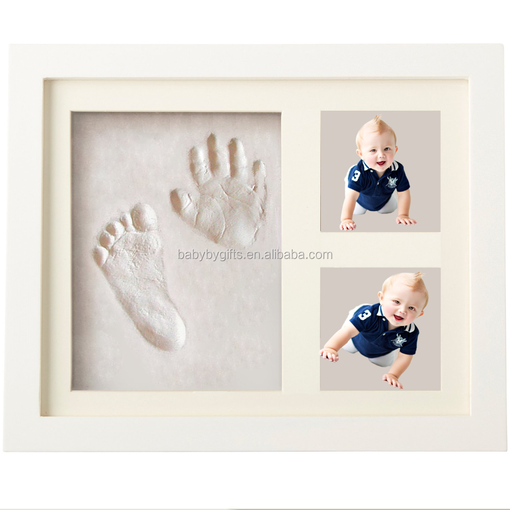 New shadow box frames wholesale baby hand print air dry putty clay kit