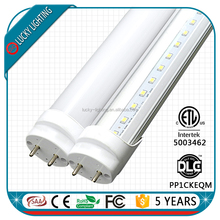 5 years warranty DLC ETL CE RoHS smd 2835 1200mm 18W led tube t8