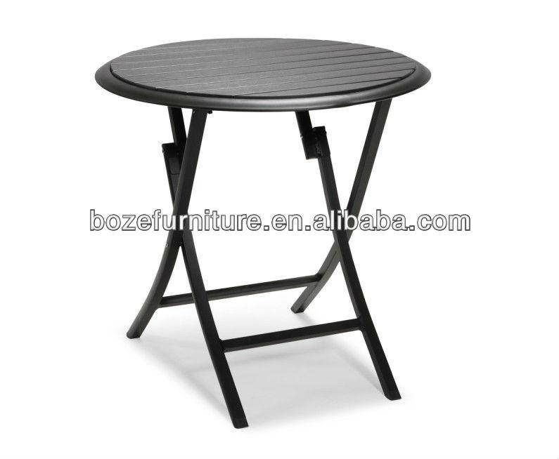 Hogar al aire libre peque a mesa plegable de pl stico mesas de exterior identificaci n del - Mesa plegable pequena ...