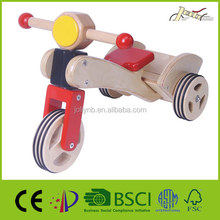 Children Wooden Balance Tricycles With Wooden Tires