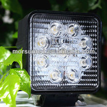 New automobile product 27w car led tuning light/led work light for 4X4 SIS ATV SUV Tractor jeep