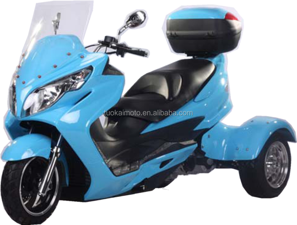 Automatic water-cooled EPA 150cc/300cc three weehls scooter/trike motorbike/300cc motorcycle (TKM300-T5)