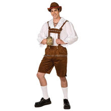 Bavarian Man Lederhosen Oktoberfest Costume German Guy Adult Costume