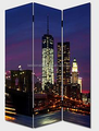 3 panels city scenery lighted office partition,hall partition