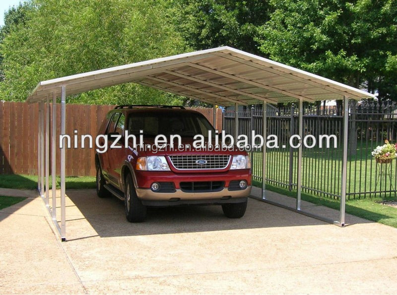 Used Metal Carports 2 Car : Modern carport metal car shed for two parking buy