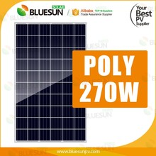 Commercial pv system poly photovoltaic pv solar panel solar module 260w 265wp 270 w 275watt black panels price