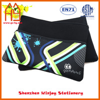 Big black soft neoprene laptop bags/pencil case for school and office promotion