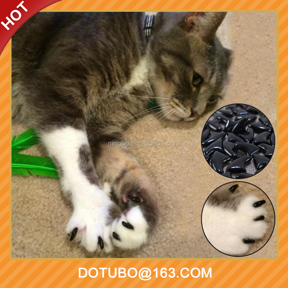 Latest Pet Grooming Antiscratch Silicone Soft Cat Nail Caps/Pet Nail Protector/Pet Paws Claw With Free Glue