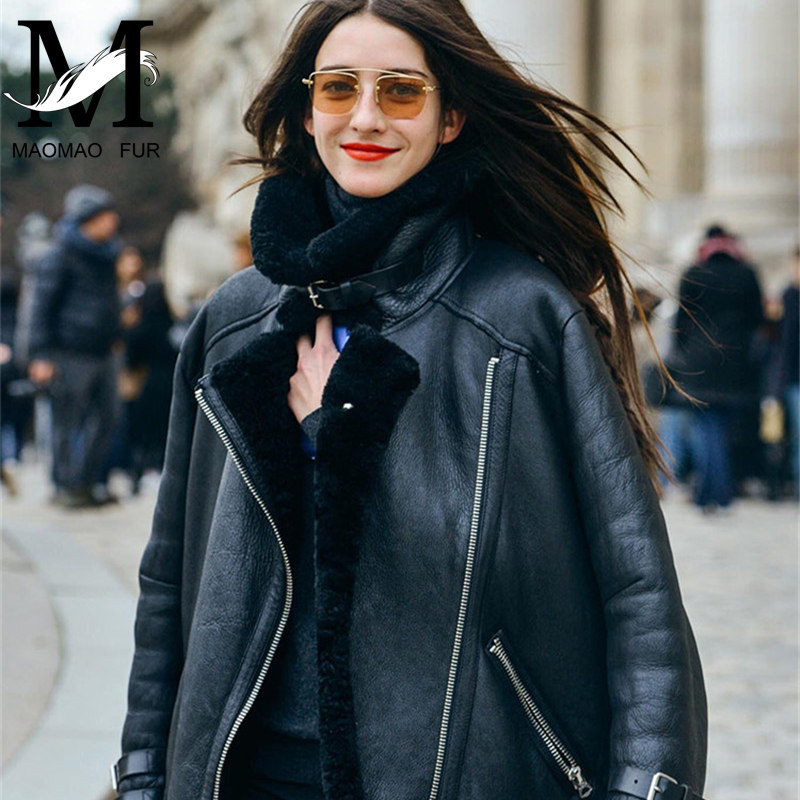 Hot Sale Custom High Quality Bulk Cheap Sheep Skin Winter Women Leather Jacket / Latest Design Jacket for Women