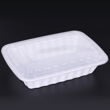 Wholesale black plastic disposable restaurant chinese snack hot food biodegradable microwave food container