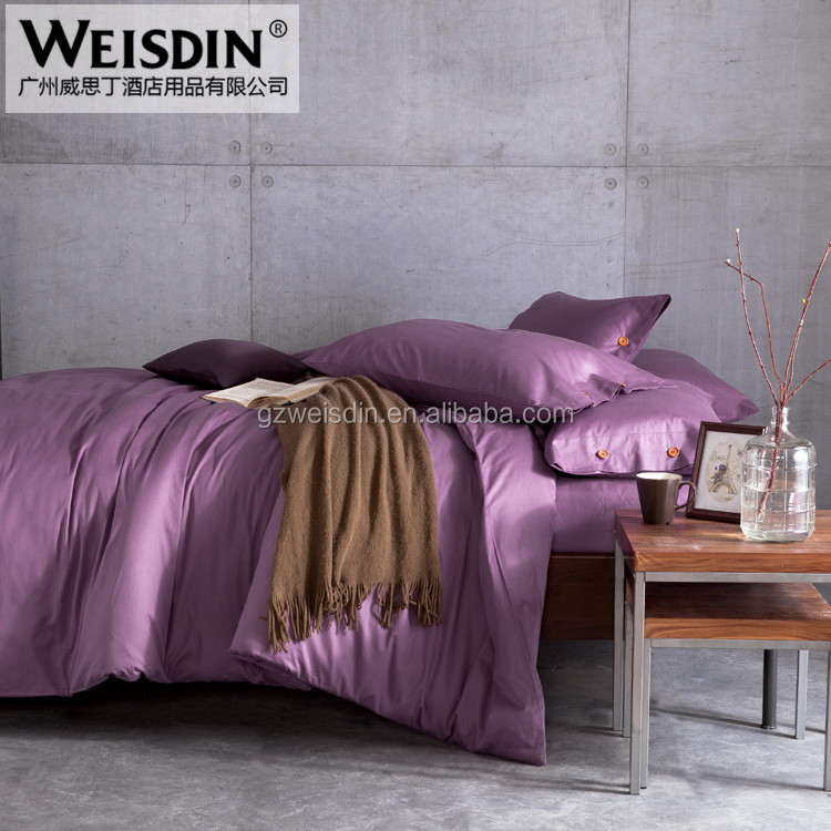 Wholesale Home Textile Yarn Dyed Solid Color Twill Weave home Bedding Set