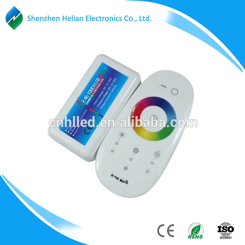 Shenzhen high quality 2.4G touch reote RGB led strip controller