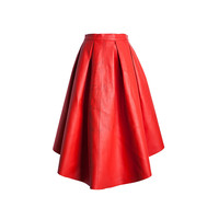 2016 Fashion long red high quality woman skirt 2016