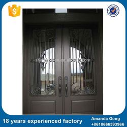 Logo Customized Rot Wrought Iron Gate Designs For Doors Homes