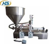 HS1000Y semi-automatic stand-up bag liquid filling machine for honey or cream