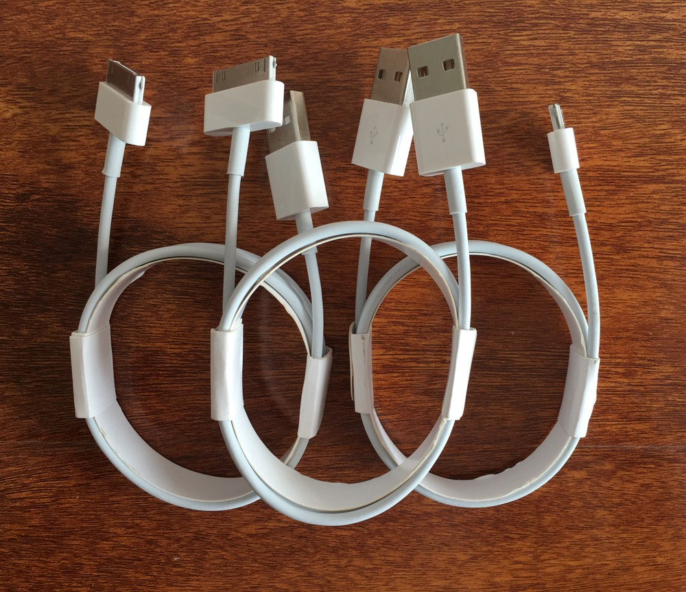 Original quality 1m white 30pin usb charger cable for iphone 4 4s data transfer and charging