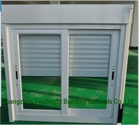 Aluminium Sliding Window With Mosquito Net and Shutter in One