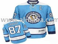 wholesale free shipping Hockey Jersey Pittsburgh Penguins 87 Sidney Crosby blue